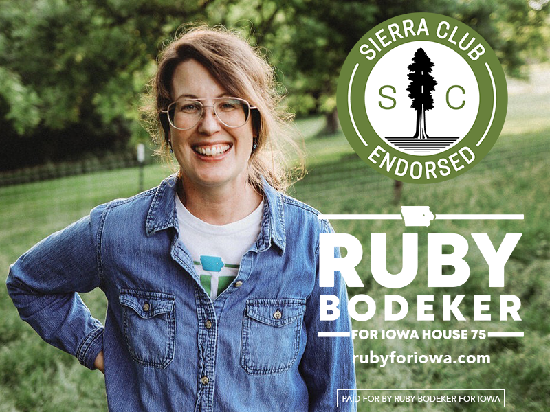Sierra Club endorses Ruby Bodeker